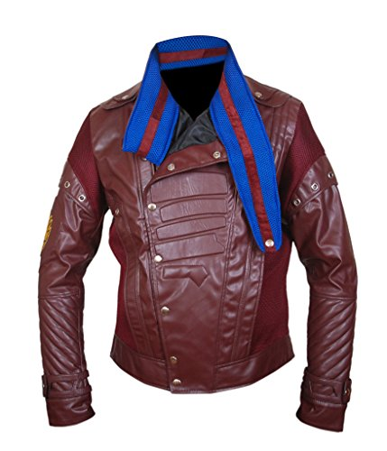 The Of Maroon 2 amp;h F Leather Guardians Star Lord Chris Galaxy Vol Men's Jacket Pratt Genuine UqIxtZR