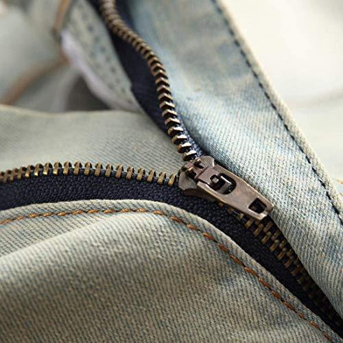 Las Rodillas Fit Zipper Skinny Hombre 28 42 36 40 34 Jeans Ripped Ropa 32 38 Cómodos 30 Hole Gelb En Cher Biker Tamaños wS4xS7qP