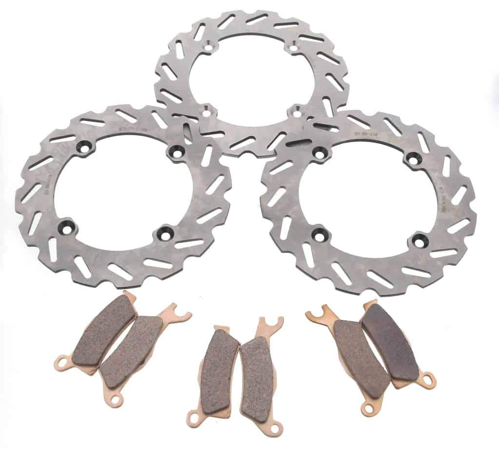 2013-2017 Can-Am Outlander Max XT-P 1000 Front and Rear Brake Rotor Discs