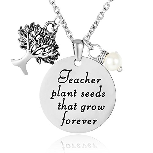 ELOI Teacher Appreciation Gifts, Thank You Gift from Student, Christmas Gifts for Teacher,Personalized Teacher Pendant Necklace Jewelry
