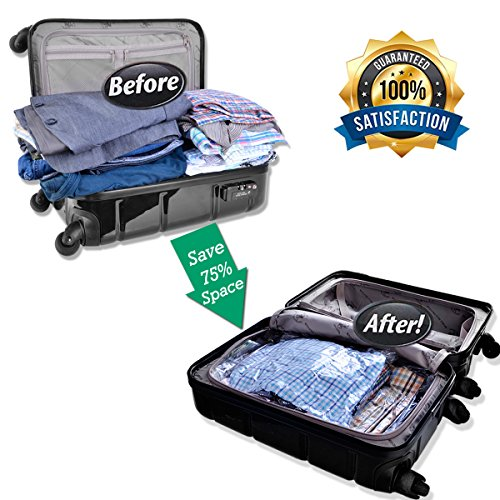 GANJOY Travel Space Saver Bags No Vacuum Needed for Travel
