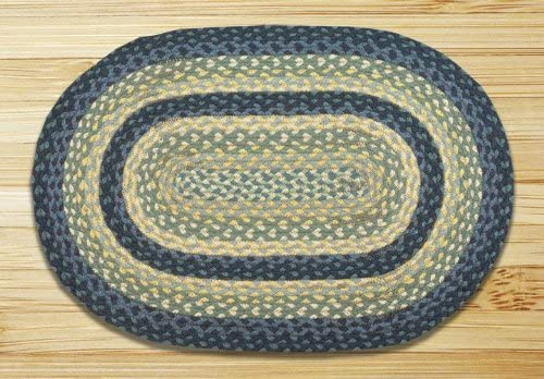 Earth Rugs Oval Rug, 5 x 8 , Breezy Blue Taupe Ivory