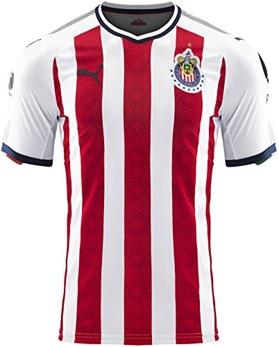 PUMA Men's Chivas Promo Home Jersey 17/18 Red/White (XL) (Jersey Home Authentic)