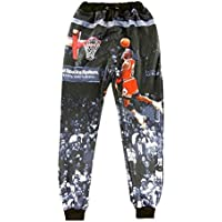 3D Joggers Pants Jordan Gym Sweat Pants Men Women Hip Hop Harem Outfit Trousers L