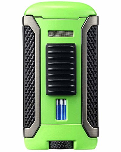 Apex Single Torch Jet Flame Cigar Lighter in an Attractive Gift Box Warranty ()