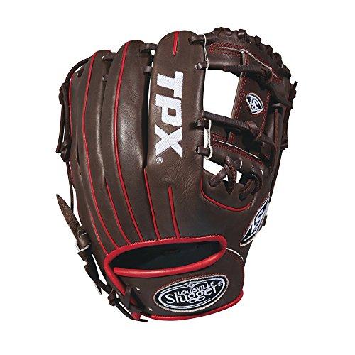 Louisville Slugger 2018 Tpx Infield Baseball Glove - Right Hand Throw Dark Brown/White/Red, 11.5'