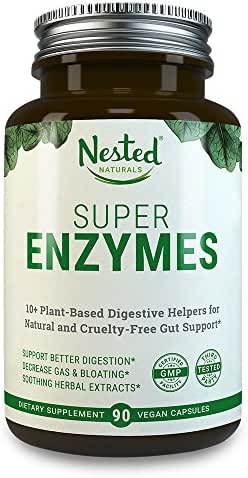 Super ENZYMES | 90 Capsules | Digestive Enzyme Supplements | 11 Essential Multi Enzyme Complex with Amylase, Lipase and Bromelain | Plant Based Digestion Supplement for Daily Gut Health | Men & Women