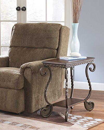 Rafferty Dark Brown Color Chair Side End Table