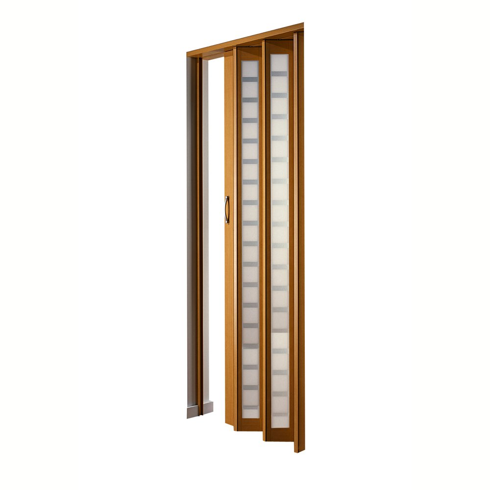 LTL Home Products HSMETRO3280BESQ Spectrum Metro Frosted Square Plexiglas Accordion Folding Door, 36 x 80 Inches, Beech by LTL Home Products