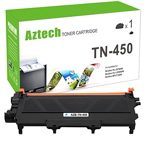 Cheap Aztech 1Pack TN450 High Yield Compatible Brother TN 450 TN420 TN-450 Toner Cartridge Replaces for Brother HL-2270DW HL 2280DW 2240 HL-2280DW MFC 7360N MFC-7860DW MFC-7460DN DCP 7065DN Toner Printer