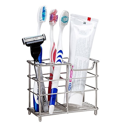 New Stainless Steel Toothbrush Bathroom Toothpaste Holder Stand Razor Organizer (Wicker Charger Plates Wholesale)
