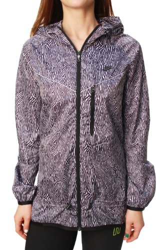 Nike Women's RU Blacklight Flash Printed Windrunner Purple Dynasty/Violet Frost MD by Nike