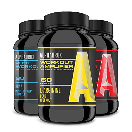 ALPHADROX Trio - FEEL the Difference with Alphadrox Workout, Test Booster, and BCAA Recovery working in harmony as designed for MAXIMUM Results!