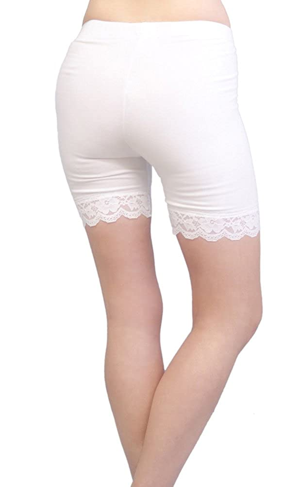 Girls Vivians Fashions Legging Shorts Cotton Lace Trim Vivian/'s Fashions VFG7005L