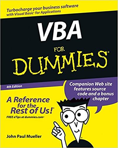 VBA For Dummies (For Dummies (Computer/Tech))