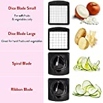 Fullstar Vegetable Chopper – Spiralizer Vegetable Slicer – Onion Chopper with Container – Pro Food Chopper – Black…