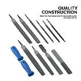 Neiko 00109A Heavy Duty File and Rasp Set, 12 Piece | PVC Handle