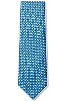 Men's 100% Silk Light Blue Bumble Bees Tie Necktie Neckwear