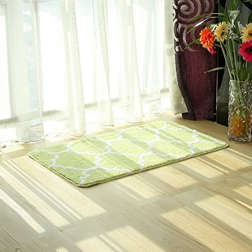 Light Green Animal Backing (EZON-CH Modern Non Slip Bathroom Bath Shower Lattice Mat Toilet Geometry Floor Rug Carpet Pad(Light Green)(24x36IN))