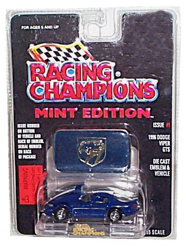 Racing Champions - Mint Edition - 1996 Dodge Viper GTS (Dark Blue w/White Stripes) - Issue #1