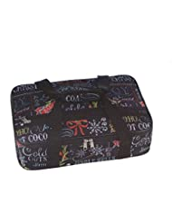 Christmas Happy Holidays Insulated Casserole Carrying Tote Black Merry Christmas