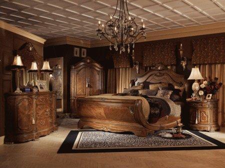 Cortina Queen Sleigh Bed - Aico 65011N-28