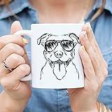Pitbull Terrier Coffee Mug 11oz Dog Lover Gift for Him Her Mom American Staffordshire Bully