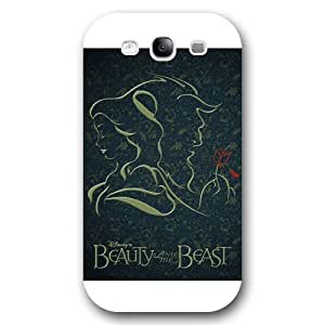 Customized White Frosted Disney Cartoon Movie Beauty and The Beast Samsung Galaxy S3 Case