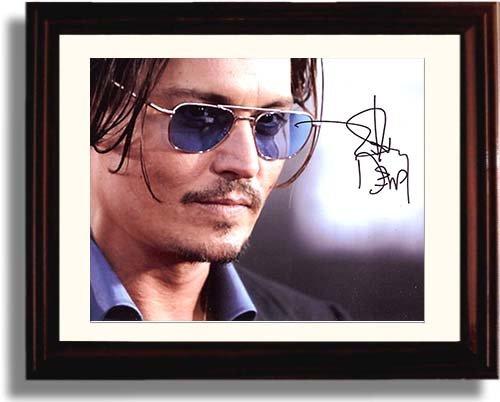 Framed Johnny Deppサインフレーム入りレプリカ印刷   B0723452BB