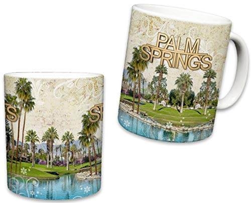 - Sweet Gisele | Palm Springs Tropical Mug | Ceramic Coffee Cup | Golf Resort View Souvenir | Colorful Design | Vacation Theme | Beautiful Palm Tree Accents | Great Novelty Gift | 11 Fl. Oz