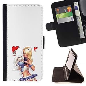 BullDog Case - FOR/Apple Iphone 4 / 4S / - / sexy sailor chick white legs butt heart /- Monedero de cuero de la PU Llevar cubierta de la caja con el ID Credit Card Slots Flip funda de cuer