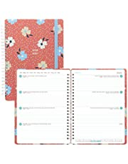 LETTS Floral - Week to View Academic Planner, August 2020 to July 2021, Twin-Wire Binding, Multilingual, 8.25 X 5.875 Inches, Coral (C030648-21)