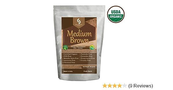 Cavin Schon Usda Certified Organic Medium Brown Henna 100