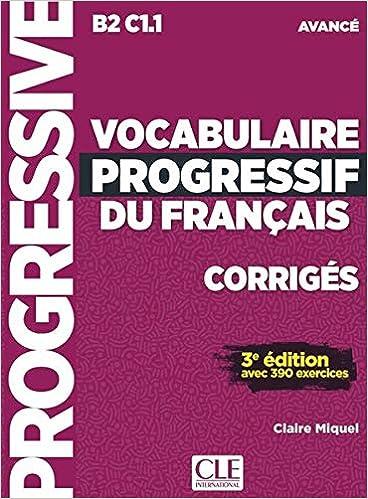 Vocabulaire Progressif Du Francais Niveau Avance 3eme