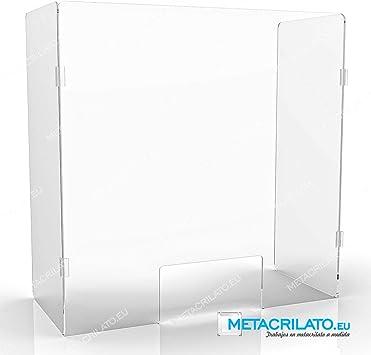 METACRILATO. EU Mampara ParabanPlegable Protector comercios mostrador farmacias panaderia (120 cm): Amazon.es: Oficina y papelería