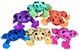 Fun Express Plush Spotted Neon Frogs (1 dz)