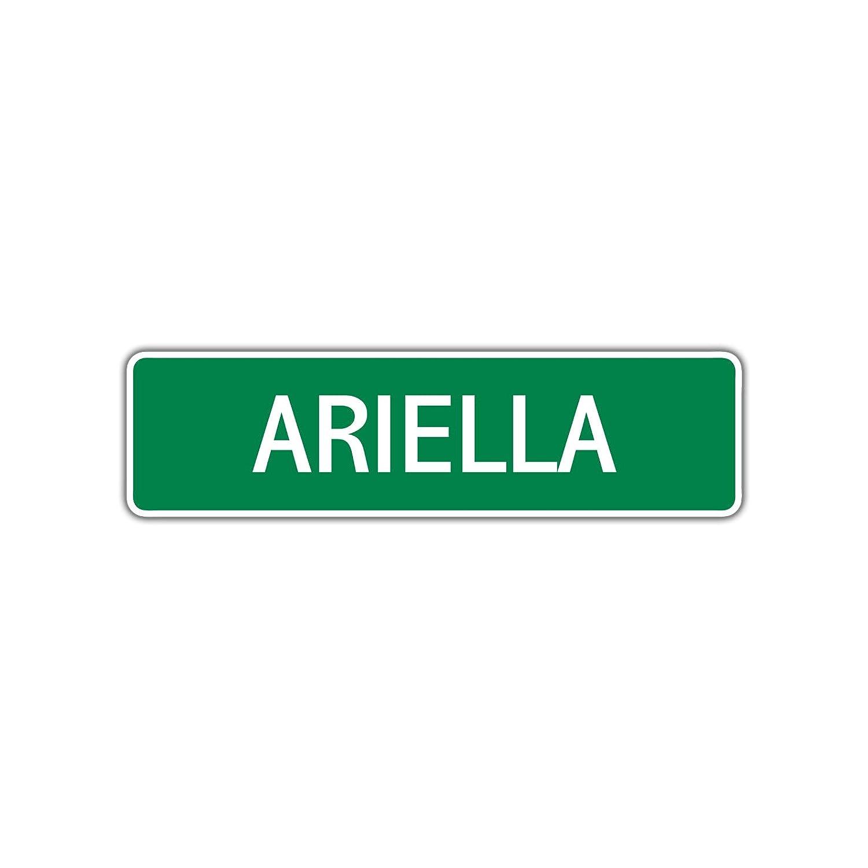 Amazon.com: Cartel de aluminio con el nombre de Ariella para ...