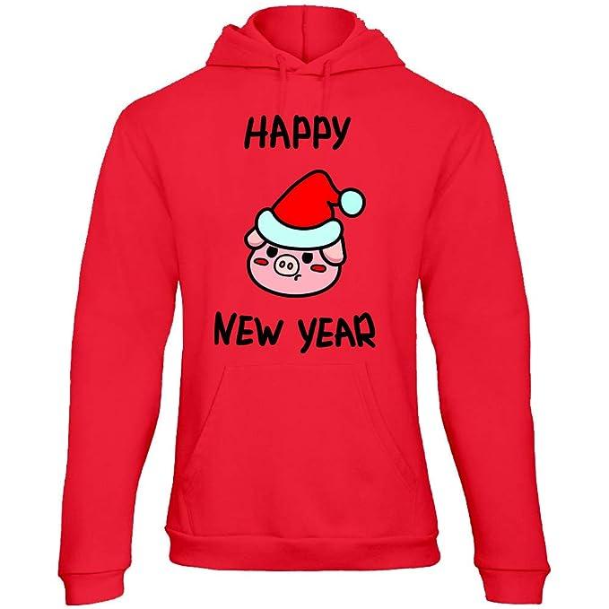 REILOM Año 2019 Navidad Sudadera con Capucha Jersey Mujer Unisexo Personalizado Logotipo Logo FEN-09D: Amazon.es: Ropa y accesorios
