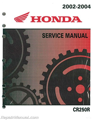 (61KZ372 2002-2004 Honda CR250R Two Stroke Motorcycle Service Manual)