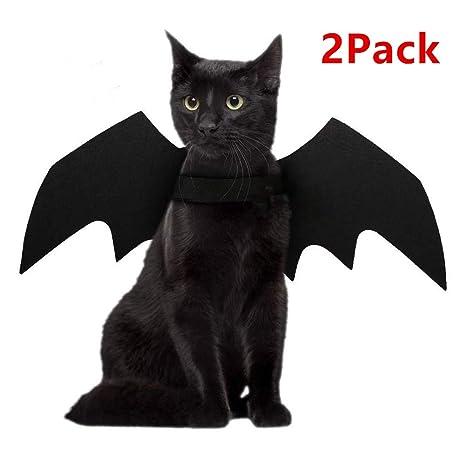 Bonabon Halloween Pet Bats Alas Perro Gato Mascota Bate Accesorio Disfraz Negro