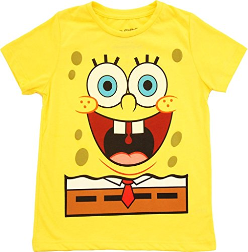 Spongebob Squarepants Jumbo Glow-in-the-Dark Yellow Adult T-shirt (Adult Large) ()