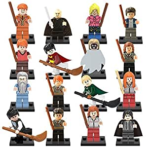 16pcslot Harry Potter Hermione Jean Granger Ron Weasley Lord Voldemort Building Blocks Figures Kids Toys Legoes Compatible