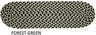 """product image for Rhody Rug Jamestown Indoor/Outdoor Braided Rug Forest Green 8"""" x 28"""" Oval 8 inch x 28 inch Oval"""