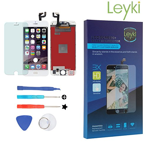 Leyki LCD Touch Screen Digitizer for IPhone 6S(White) 4.7 inches Screen Replacement Assembly Full Set Repair Tool Kit Including Screen Protector