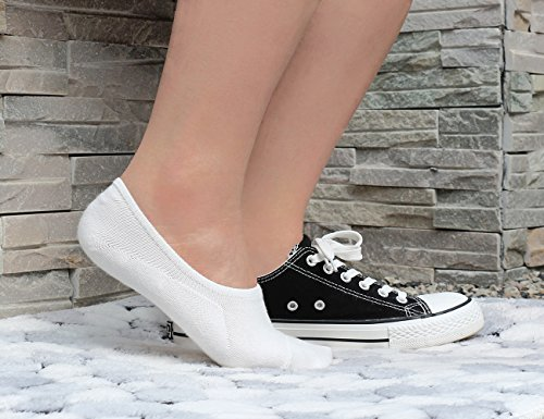 Women No Show Liner Socks Cotton Non Slip Casual Invisible Socks for Flats, Loafers(6 Pairs)