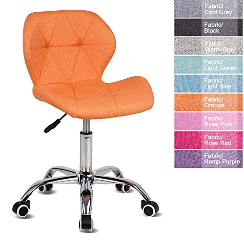 EUCO Desk chair,Office Chair Adjustable Height Computer Chair PU Leather Padded Swivel Chair,Home/Office Furniture…