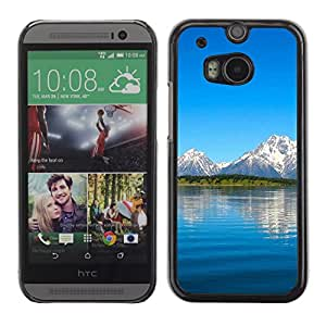 Be Good Phone Accessory // Dura Cáscara cubierta Protectora Caso Carcasa Funda de Protección para HTC One M8 // Nature Beautiful Forrest Green 10