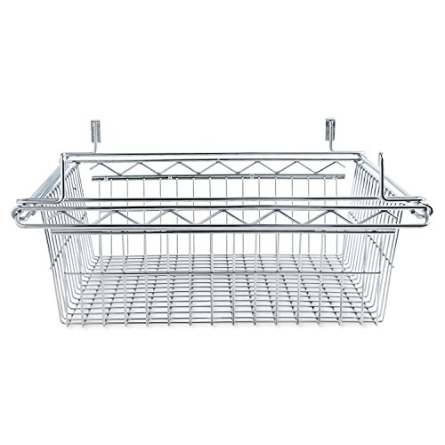 Alera Sliding Wire Basket for Wire Shelving, 18 by 18 by 8-Inch, - Sliding Alera Wire Basket