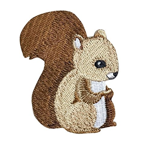Baby Squirrel - Children's Animal - Iron on Applique/Embroidered Patch