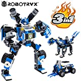 Robot STEM Toy | 3 in 1 Fun Creative Set | Construction Building Toys for Boys Ages 6-12 Years Old | Best Toy Gift for Kids | Free Poster Kit Included